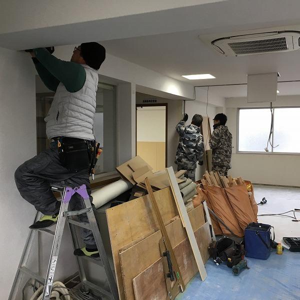 事務所改装工事。0005914421
