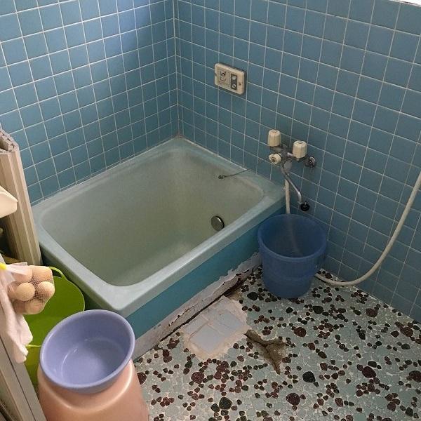 タイルのお風呂からユニットバス。0005954513