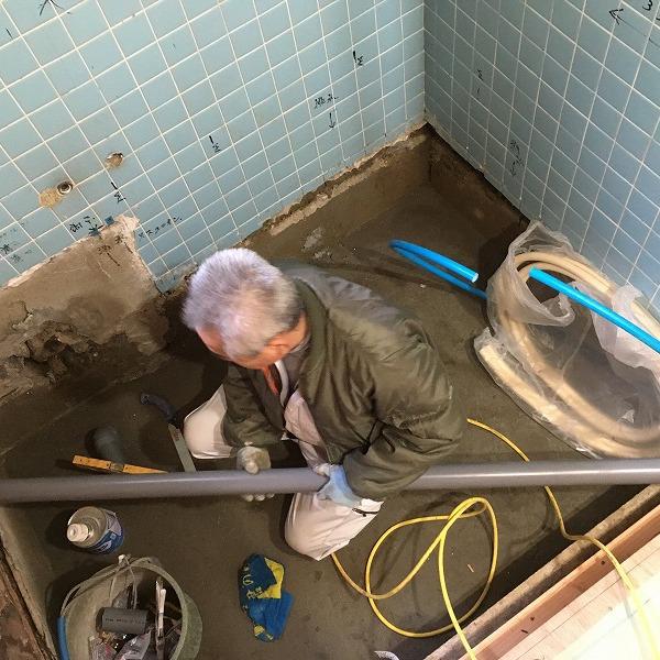 タイルのお風呂からユニットバス。0005954528