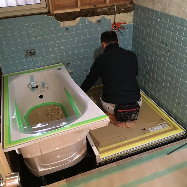 タイルのお風呂からユニットバス。0005954530