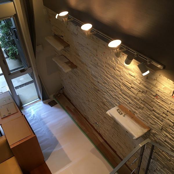 LDK壁面装飾ロックタイル仕上げ。0006054712
