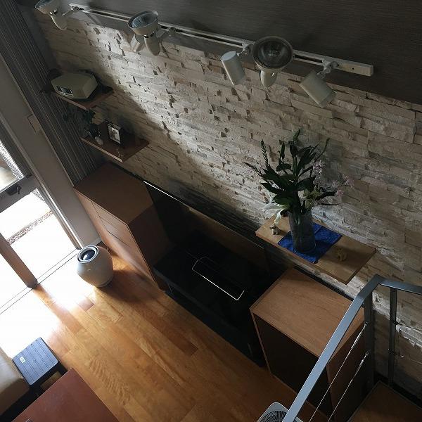 LDK壁面装飾ロックタイル仕上げ。0006054715
