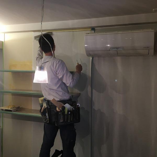 棚取付① 壁がボードの棚取付け。0006074730