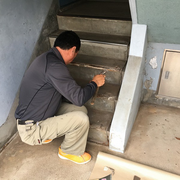 共用階段の滑り止め。0006104766