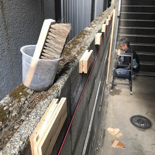 ブロック塀にサイディング。0006315433