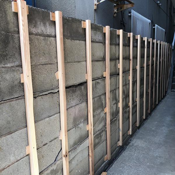 ブロック塀にサイディング。0006315435
