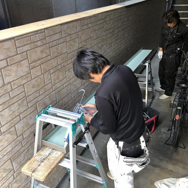 ブロック塀にサイディング。0006315437
