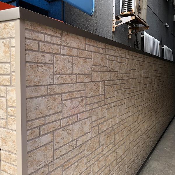ブロック塀にサイディング。0006315439