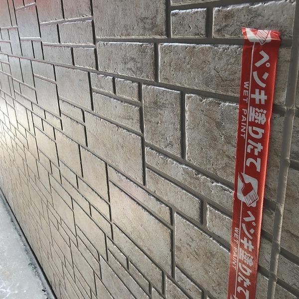 ブロック塀にサイディング。0006315442